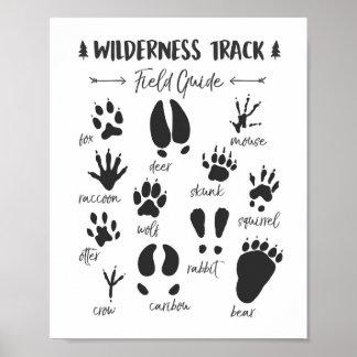 Animal Track nursery print Woodland Nursery