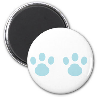 Animal tracks 2 inch round magnet
