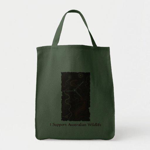 """Animal Tracks"" Australian Aboriginal Style Bag"