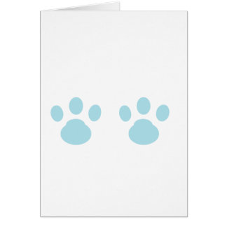 Animal tracks card