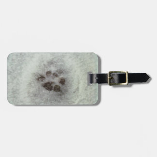 Animal tracks in the snow luggage tags