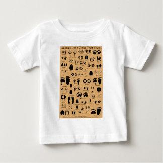 Animal Tracks Pawprints Poster Baby T-Shirt