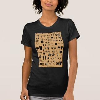 Animal Tracks Pawprints Poster Tee Shirts