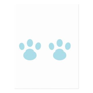 Animal tracks postcard