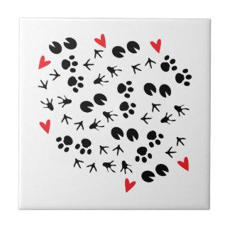 Animal Tracks Tile