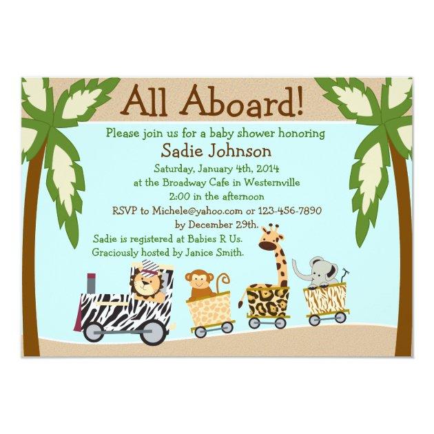 87+ Brilliant Safari Themed Baby Shower Invitations