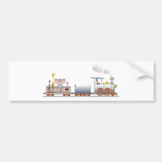 Animal Train Bumper Sticker