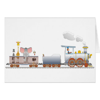 Animal Train Card