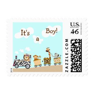 Animal Train Custom Postage Stamp