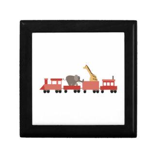 Animal Train Keepsake Box