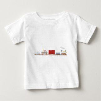 Animal Train Long Baby T-Shirt