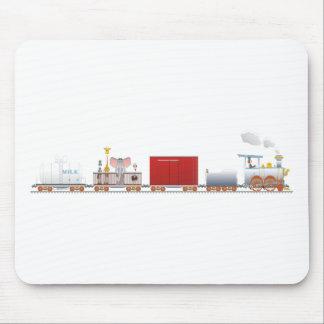 Animal Train Long Mouse Pad