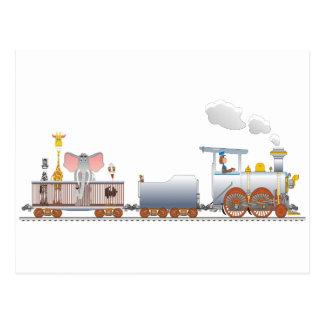 Animal Train Postcard