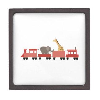 Animal Train Premium Keepsake Box