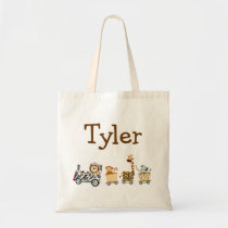 Animal Train Tote Bag