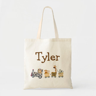 Animal Train Tote Bag