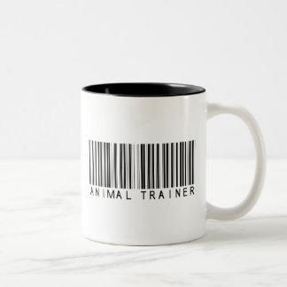 Animal Trainer Bar Code Two-Tone Coffee Mug