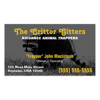 Animal Trapper Business Card