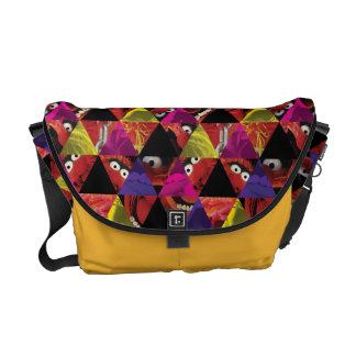 Animal Triangle Pattern Messenger Bag