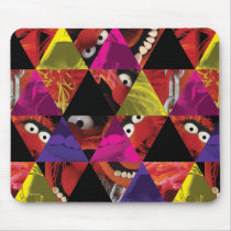 Animal Triangle Pattern Mouse Pad
