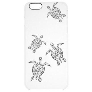 Animal tribal de Tatoo de las tortugas Funda Clearly™ Deflector Para iPhone 6 Plus De Unc