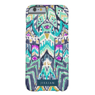 Animal tribal del alcohol del Parakeet Funda De iPhone 6 Barely There
