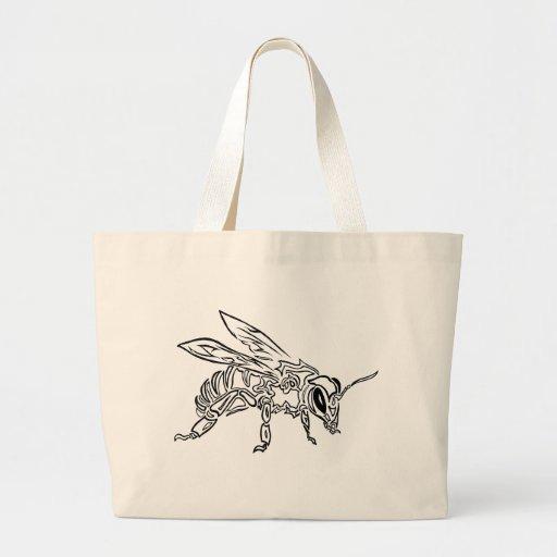 """""""Animal tribal surrealista del tótem de la abeja d Bolsa"""