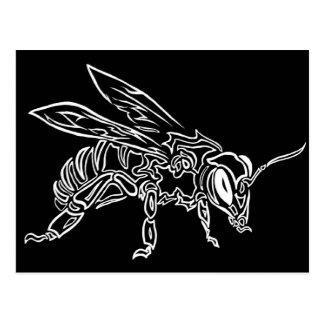 Animal tribal surrealista del tótem de la abeja d postal