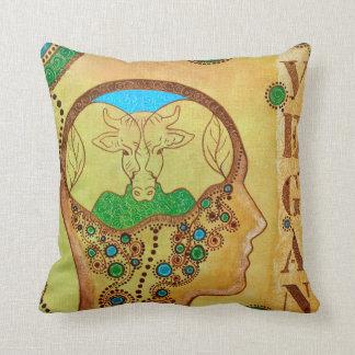 Animal Vegan connection Throw Pillow