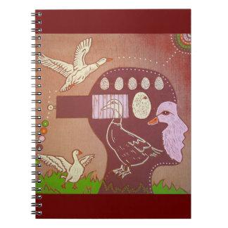 Animal Vegan freedom Spiral Note Books