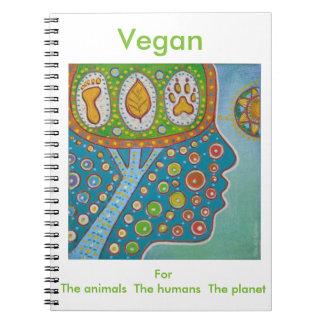 Animal Vegan human planet Spiral Notebooks