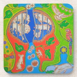 Animal Vegan release Beverage Coaster