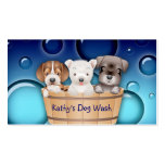 Animal Veterinarian Business Card Dogs Bucket