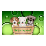 Animal Veterinarian Business Card Dogs Bucket gree