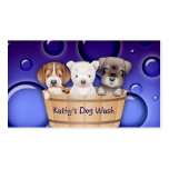 Animal Veterinarian Business Card Dogs Bucket peri