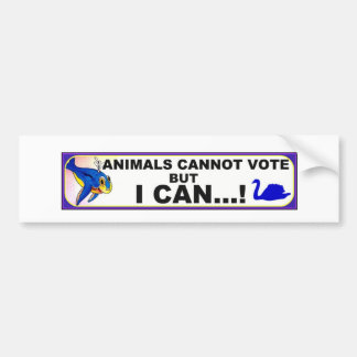 animal voting rights bumper sticker