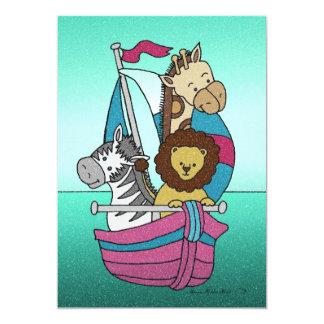 Animal Voyage 25 5x7 Paper Invitation Card