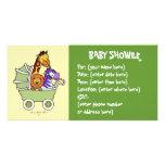 Animal Walk 5 Baby Shower Personalized Photo Card