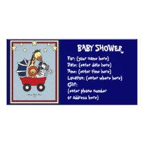 Animal Walk Baby Shower Card