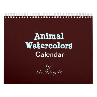 Animal Watercolor Calendar