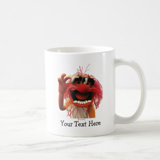 Animal wearing sunglasses classic white coffee mug