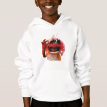 Animal wearing sunglasses hoodie