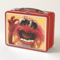 Animal wearing sunglasses metal lunch box