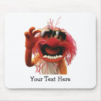 Animal wearing sunglasses mouse pad