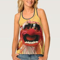 Animal wearing sunglasses tank top