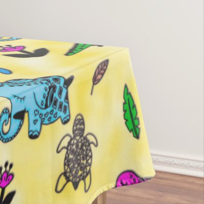 Animal Whirlwind Tablecloth