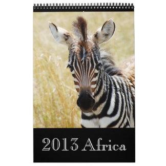 Animal wild Africa 2013 (ANY YEAR) Calendar