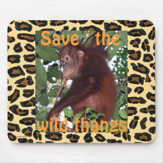 Animal Wild Thangs Mouse Pad
