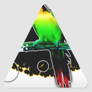 Animal wild vintage style gifts 11 triangle sticker