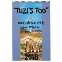 Animal Wildlife Art 2018 Calendar Humorous Rabbit